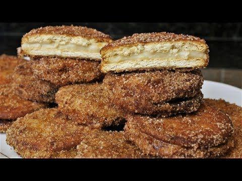 Cocina andaluza: Galletas fritas rellenas de crema