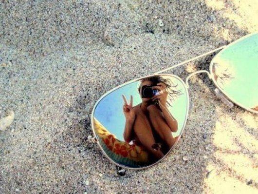 Fotograferen via zonnebrillen, spiegels etc.