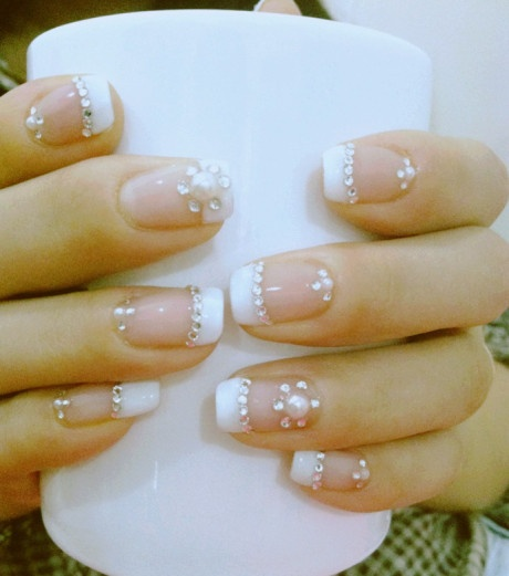 Another white French nail
