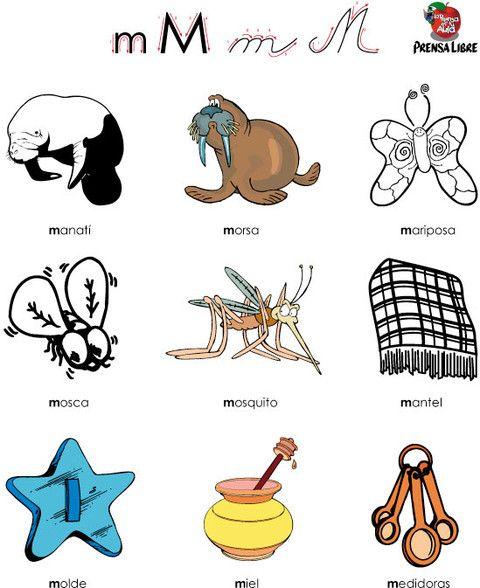 17 Best images about Letra m minúscula, mayúscula. Para aprender ...