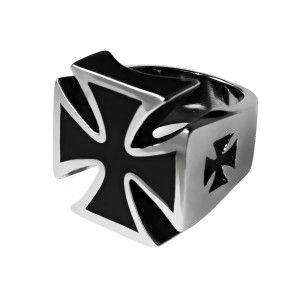 #prsten #válečný #kříž #iron #cross , vyrobený z #chirurgické #oceli. Odkaz na #eshop: http://www.ocelovesperky4u.cz/ocelove-prsteny/prsteny-bez-kamene/prsten-iron-cross-II-v16-chirurgicka-ocel-316l