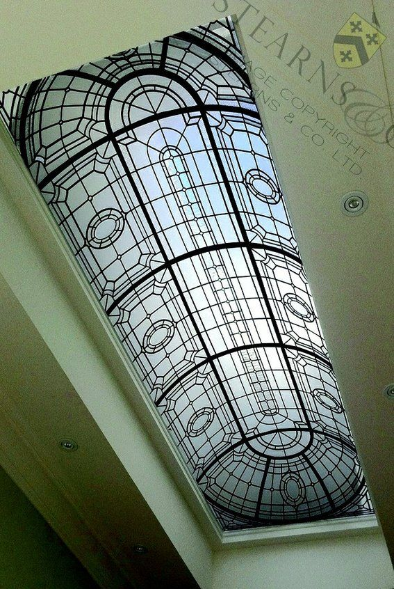 Leaded Glass Ceiling Dome.