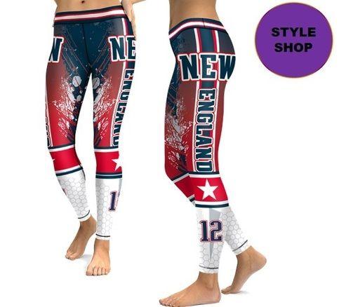 48014a58 Leggings Sports New England Patriots Football Team High Quality ...