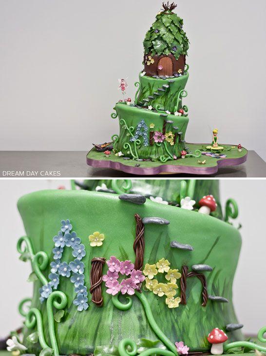 Fairy birthday cake birthdays princesses and birthday cakes for Fairy garden birthday cake designs