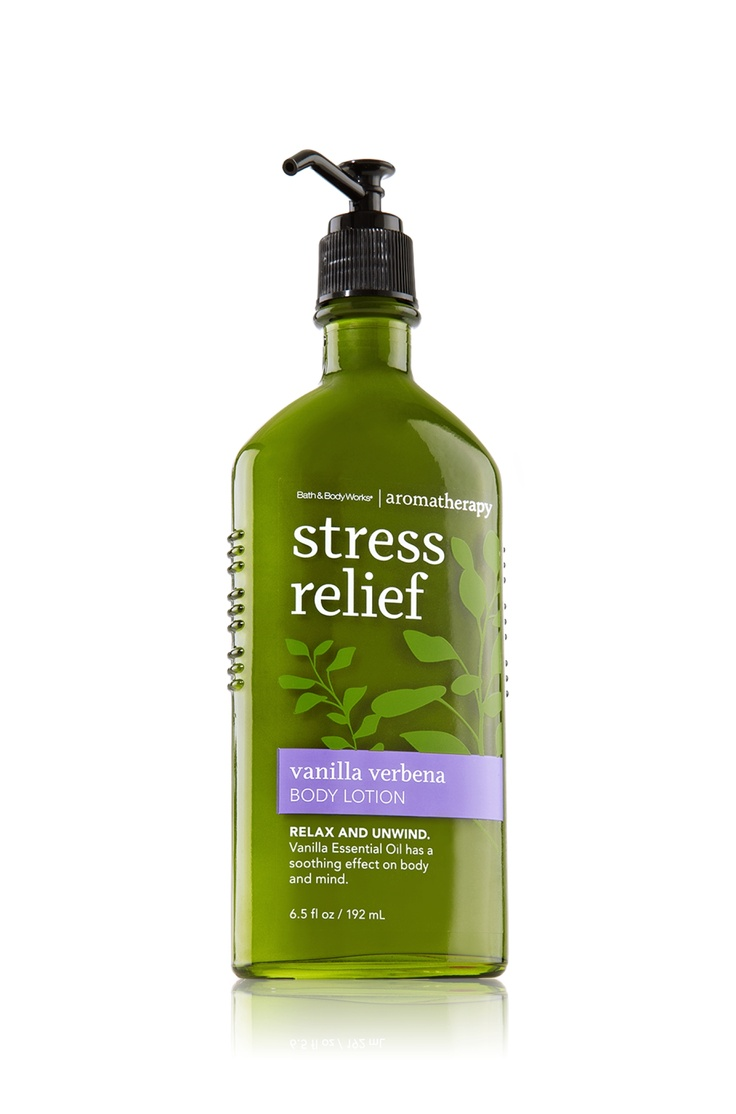 Stress relief vanilla verbena body lotion aromatherapy for Where are bath and body works products made