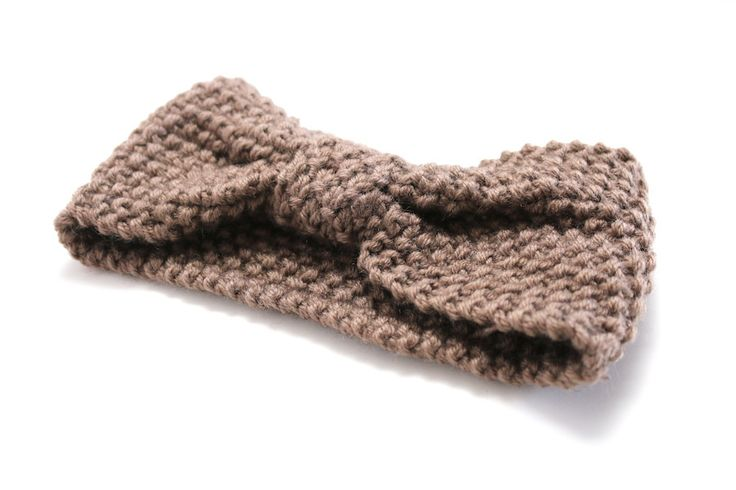Knotted Crochet Head Warmer