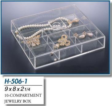 10-Compartment Jewelry Box | Compartment Boxes-Jewelry Boxes and Hangers | Jewelry Boxes and Trays | AcrylicGiftware.com