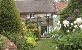 glass kitchen extension listed building - Google Search