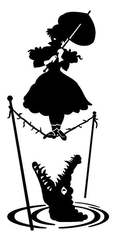 TWO (2) - Haunted Mansion Tightrope Parasol Lady Portrait Vinyl Decal Sticker - Car, Truck, Cell Phone, Walls, iPhone, Skateboard, Mac Book