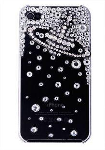 Silver saturn and rhinestones alloy diy bling phone deco kit K9   chriszcoolstuff - Craft Supplies on ArtFire