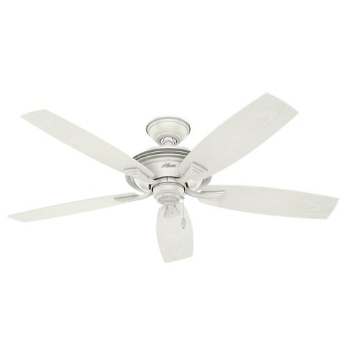 Hunter Fan Company Rainsford Fresh White Ceiling Fan Without Light | 53346 | Destination Lighting