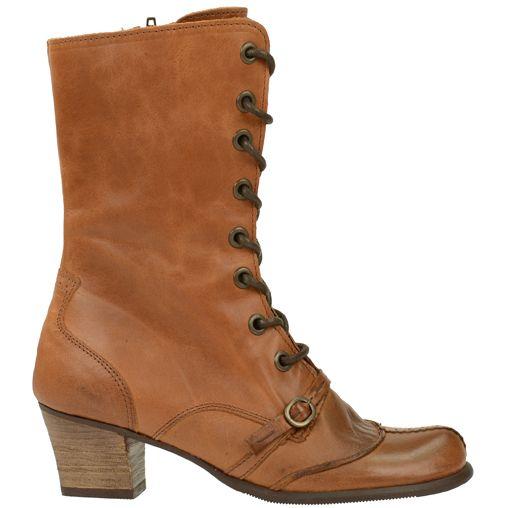 Brown vintage lace-up boots - Bruine vintage veterlaarzen