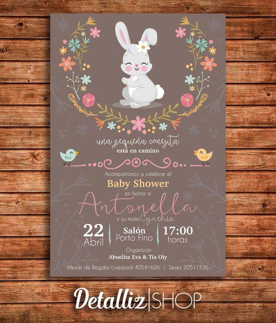 Bienvenidos A Detalliz Shop éste Articulo Es Una Invitación Para I Plantillas De Invitación Para Baby Shower Baby Shower Invitaciones Invitaciones Para Baby