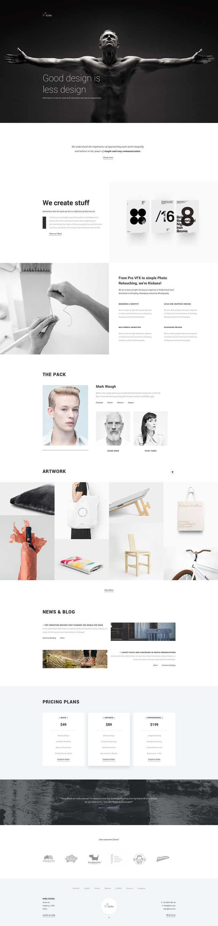 Kora - Portfolio Template for Agency & Freelancers on Behance