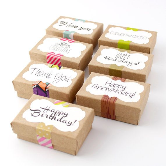 Gift Wrap on Recycled Kraft Paper Box by SpiffingJewelry on Etsy, $2.00