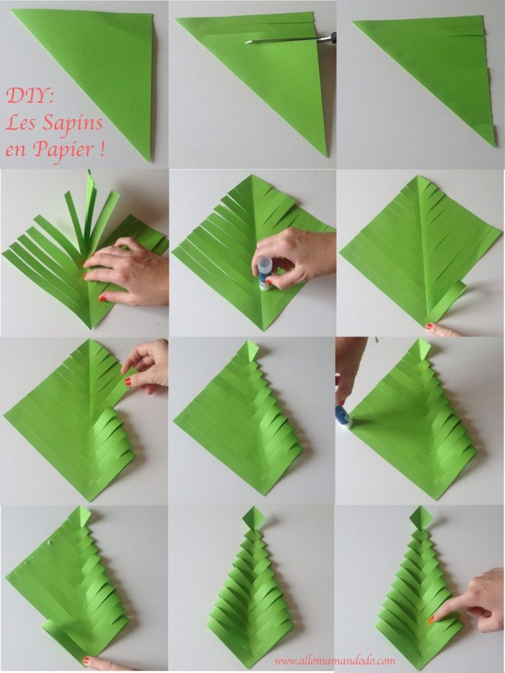 diy-sapin-papier diy christmas tree paper deco