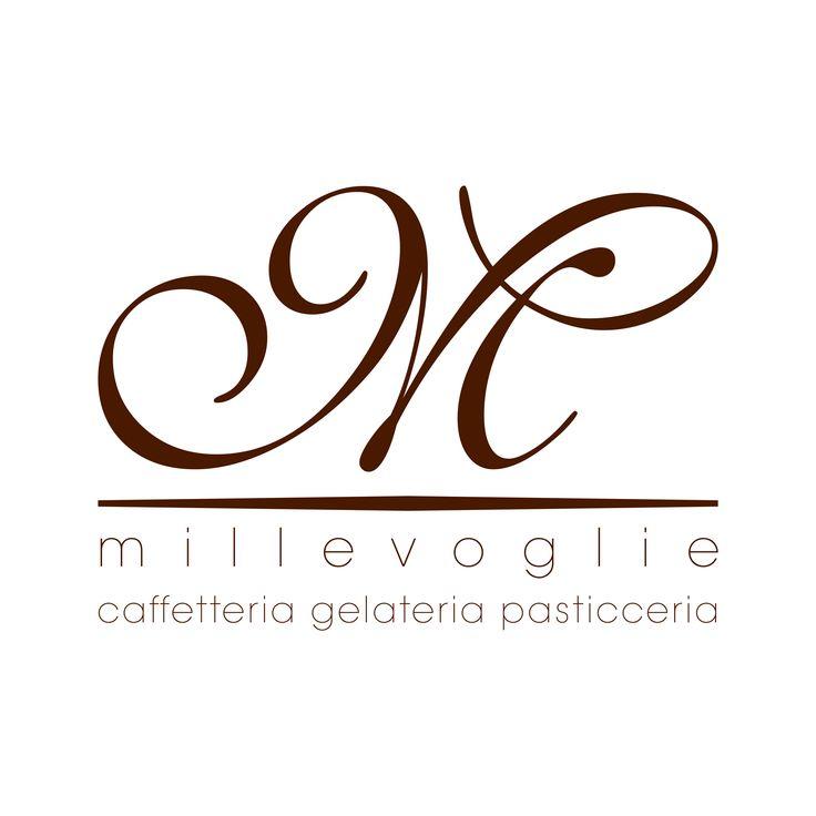 Millevoglie Vespolate caffetteria gelateria pasticceria logo design