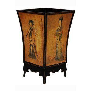 Enchanted Lady Oriental waste paper basket