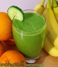 Refreshing Pineapple-Citrus Super Detox Green Smoothie
