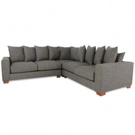 GALLERY FURNITURE CUSTOM CONTEMPORARY CHARCOAL GREY SECTIONAL Sofa Sectional Living Room