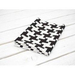 WIATRACZKI / czarno-białe - tkanina odzieżowa TO110