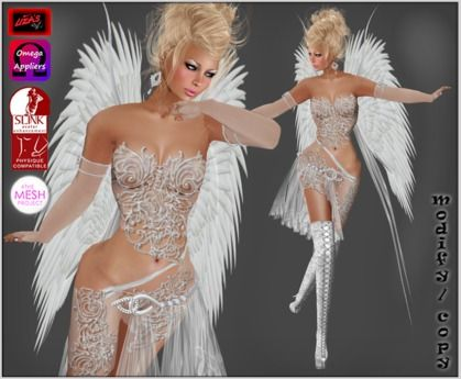 Liza's* Zuriel white, incl. appliers, tagFantasy