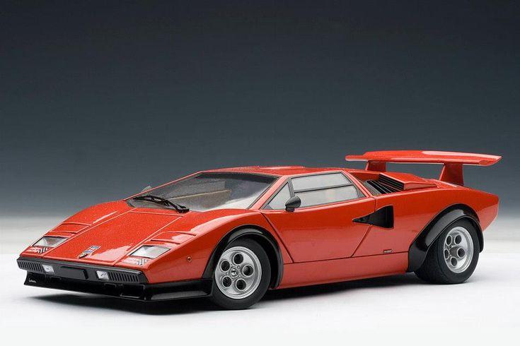 AUTOart: Lamborghini Countach LP500S Walter Wolf Edition   Red (74651) In  1:18 Scale | Lamborghini, Vehicle And Cars