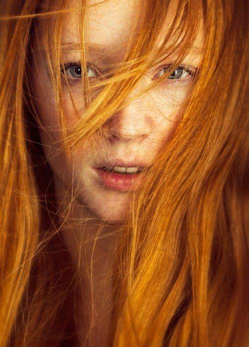 long golden #redhair