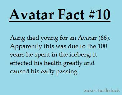 Avatar facts. :(