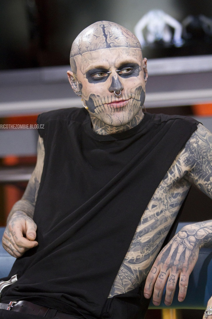 Rick Genest...hot yes, but I don't think I could wake up next to him every day lol, I'll take the couch