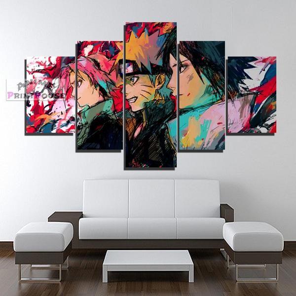 Naruto Canvas Prints Sasuke Naruto Sakura 1 To 7 Pieces Anime Canvas Anime Canvas Anime Canvas Painting Naruto Painting