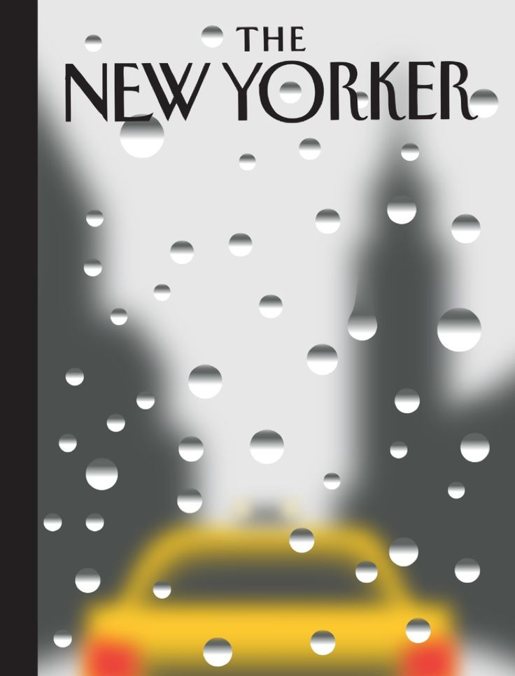 An illustration of New York in the rain by Christoph Niemann for the cover of The New Yorker