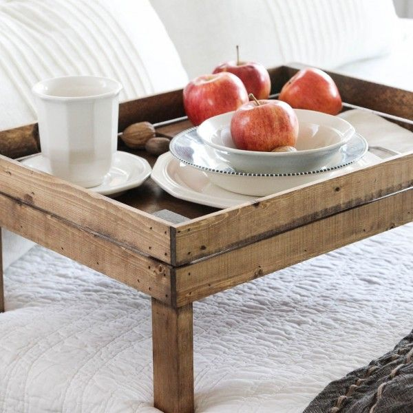 Breakfast In Bed Tray Handmade By The Wood Grain Cottage