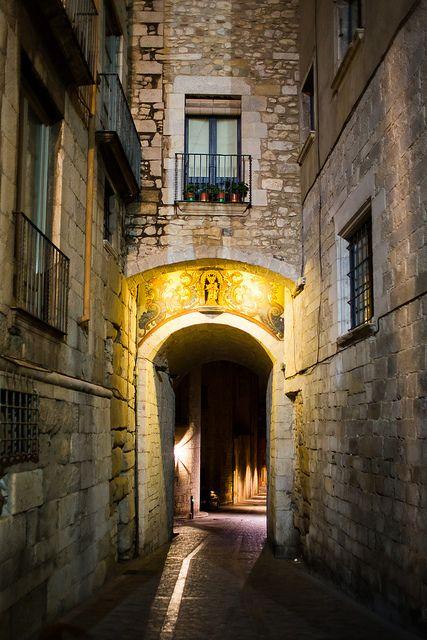 Fantastic alley, Girona, Spain