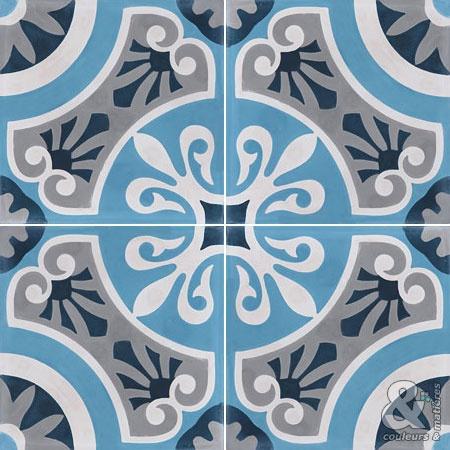 Les décors 4 carreaux - Carreaux de ciment - Les collections - Couleurs  Matières