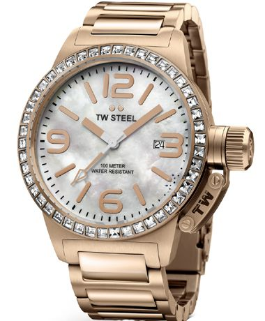 TW STEEL Canteen Rose Gold Stainless Steel Bracelet