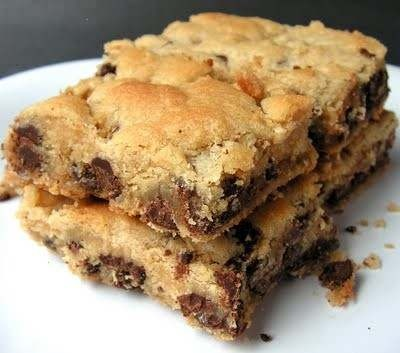 chocolate chip cookie bars | Favorite Recipes | Pinterest