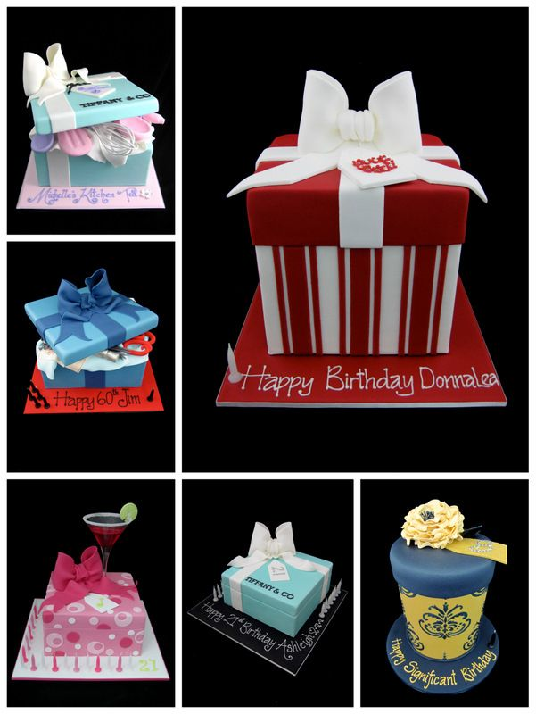tutorial: Gift box cake - how to make the lids three different ways gotta do this for a birthday cake
