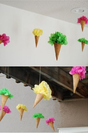 cute ice cream cone decorations