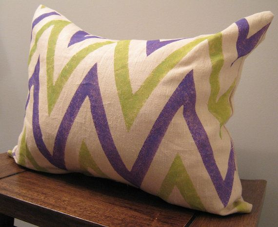 I Like Chevron, Stripes, And The Block Print Look On This Material. I