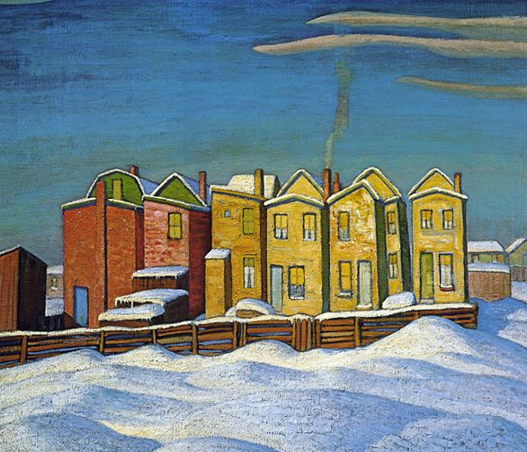 Row of Six Houses c.1921 Lawren Harris