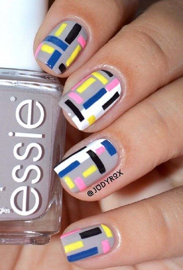 100 Stripes And Tape Nail Art Designs 2018 Nail Art 2 Pinterest