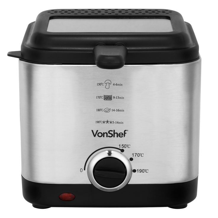 VonShef 1.5L Deep Fat Fryer  Rustle up freshly deep fried food in the comfort of your own kitchen with the VonShef Deep Fat Fryer. #deepfatfryer #kitchen #appliances #cookingequipment