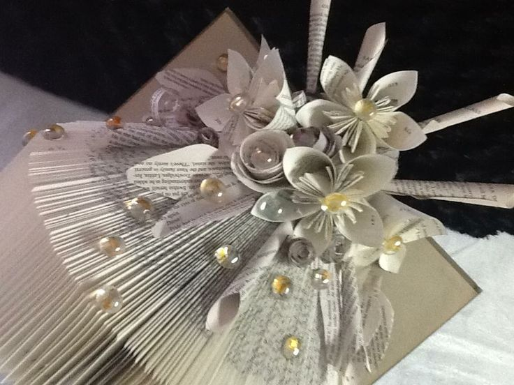 Folded altered book by ART in HEART