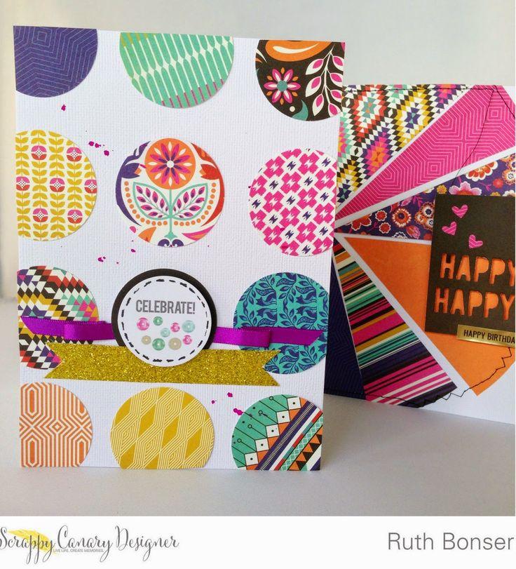 Scrappy Canary: Celebrate Card - Ruth Bonser