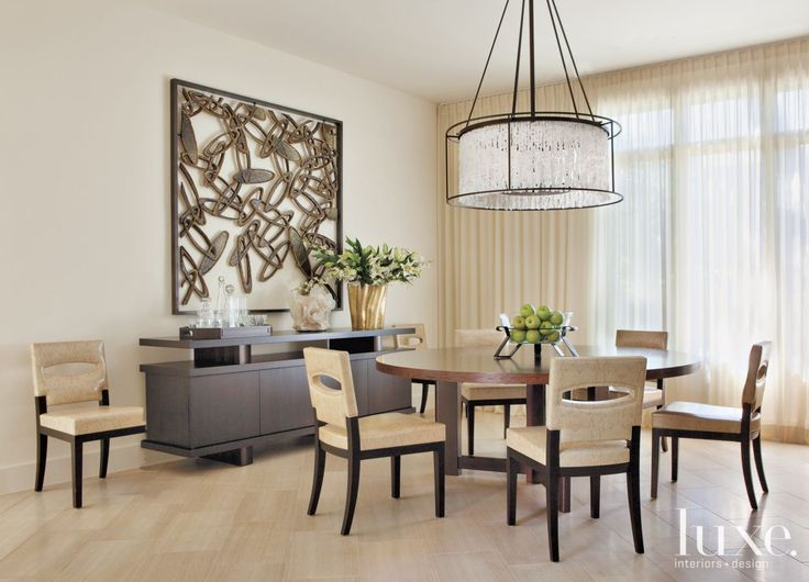 Modern Neutral Dining Room with Cement and Wood Artwork. 1783 best images about Luxe   Trends on Pinterest   Master