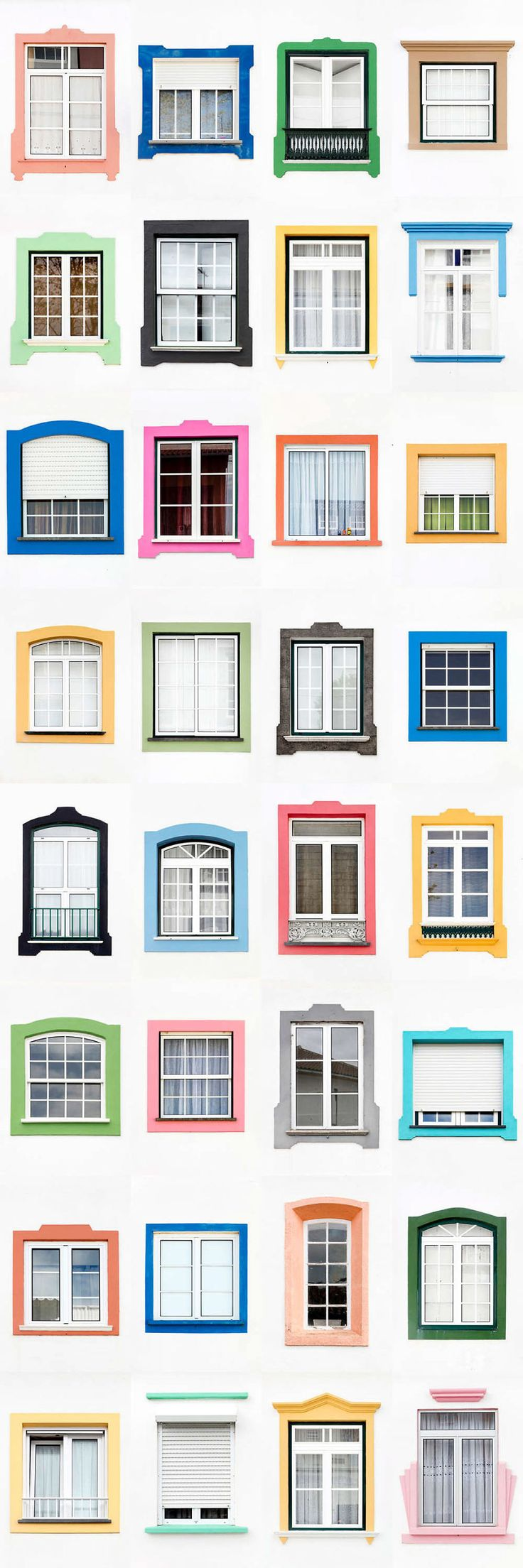 I Traveled All Over #Portugal To Photograph Windows, And Captured More Than 3200 Of Them - via BoredPanda 23-10-2017 | If you are planning a trip to Portugal, you can see which are the most beautiful cities to visit or what kind of architecture you like the most. Photo: Praia Da Vitoria
