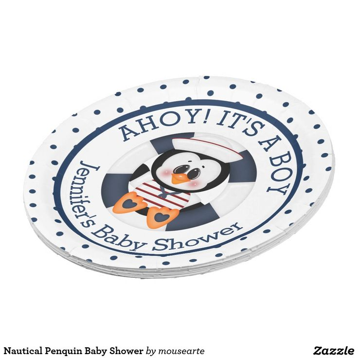 Nautical Penquin Baby Shower 9 Inch Paper Plate  sc 1 st  Pinterest & 8 best Party Supplies images on Pinterest | Party supplies Cocktail ...