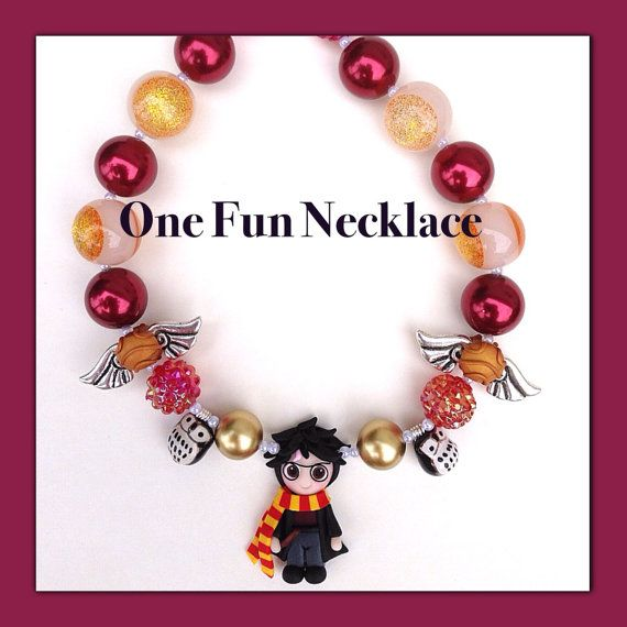 Handmade One of a Kind Harry Potter Polymer Clay by OneFunNecklace you can find me on ETSY at ONE FUN NECKLACE !