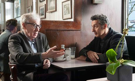 Coffee and post-coital cigarettes … Woody Allen, left, and John Turturro in Fading Gigolo.